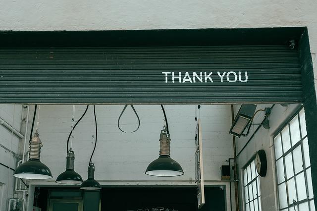 short thank you notes