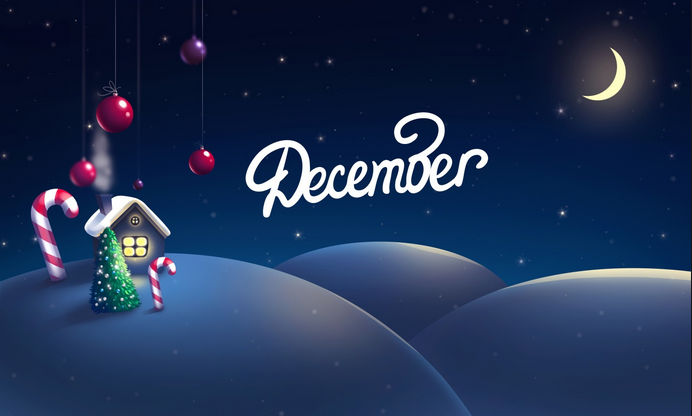 Happy New Month of December Messages