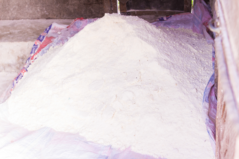 Garri production at a local factory