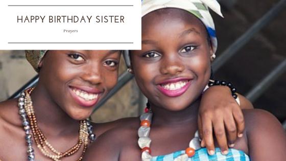 Happy Birthday sister prayers