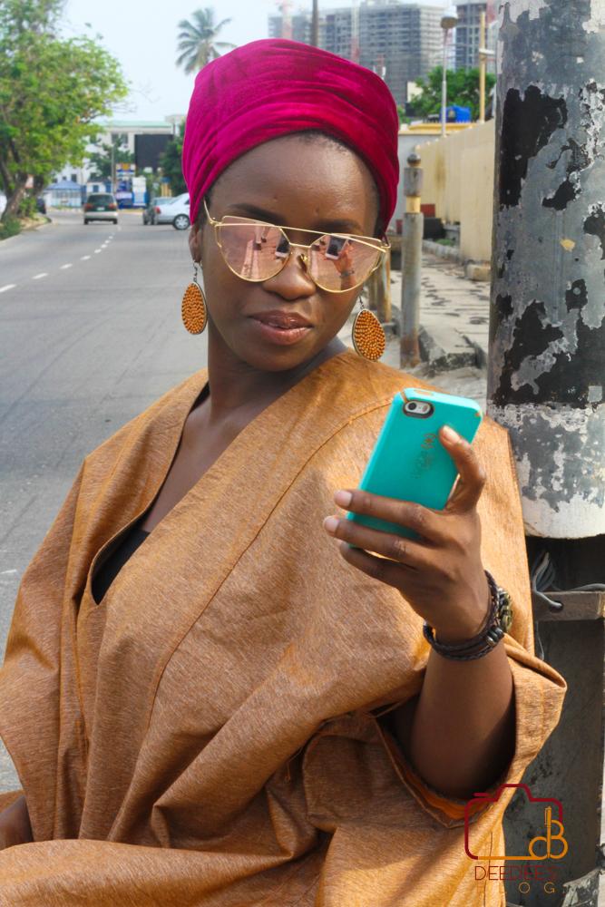agbada on the street of Lagos