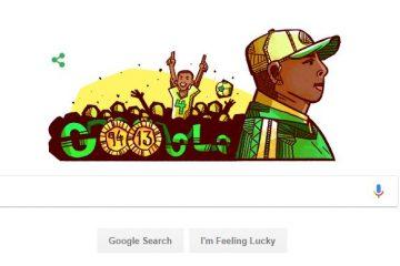 Google doodle celebrate Stephen Keshi