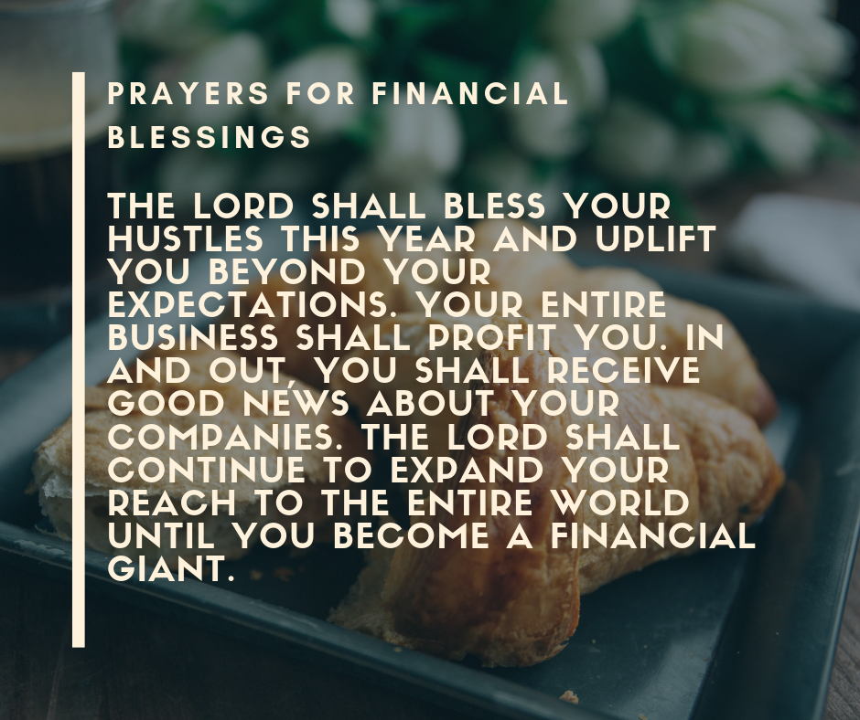 Prayers for Financial Blessings