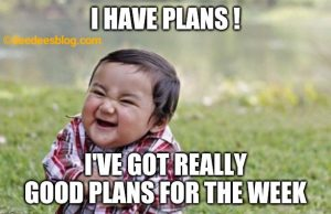 Little boy plans