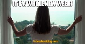 Woman opens window to a new week